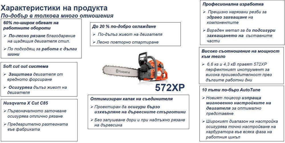 Моторен трион Husqvarna 572XP